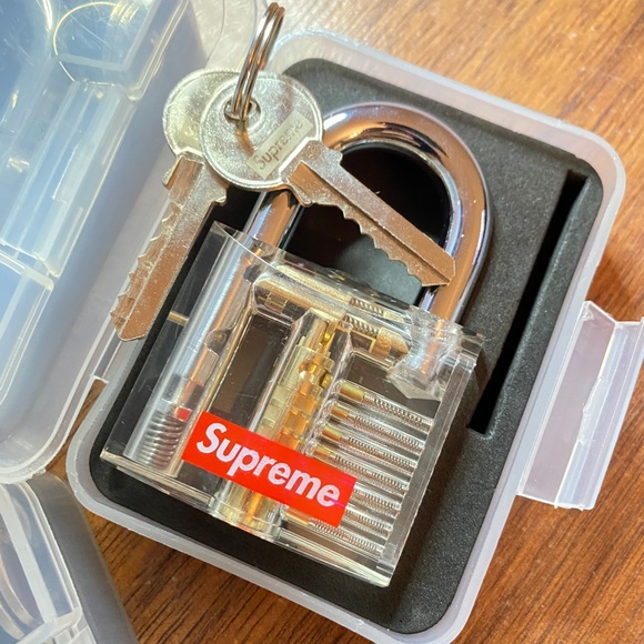 Supreme clear lock accessory